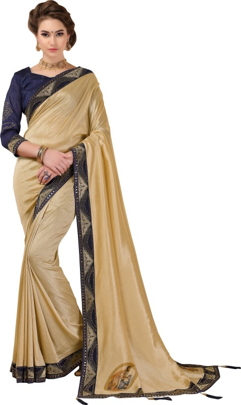 Rola Trendz Printed Banarasi Cotton Silk, Silk Cotton Blend Saree(Multicolor)