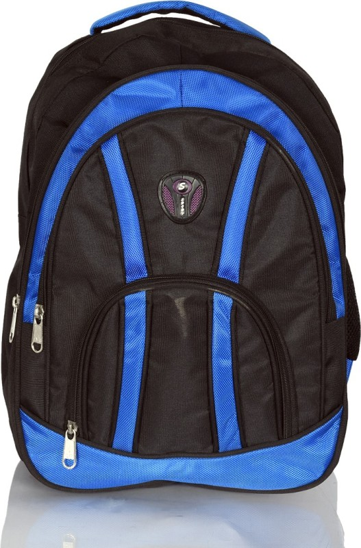 ULTRA DIGITS Stylish Waterproof School Bag(Black, Blue, 18 L)