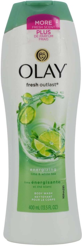 Olay Fresh Outlast Energizing Body Wash, Lime & White Tea - 400ml(400 ml)