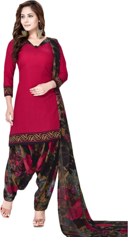 FabTag - Fashion Valley Crepe Printed Salwar Suit Material(Un-stitched)
