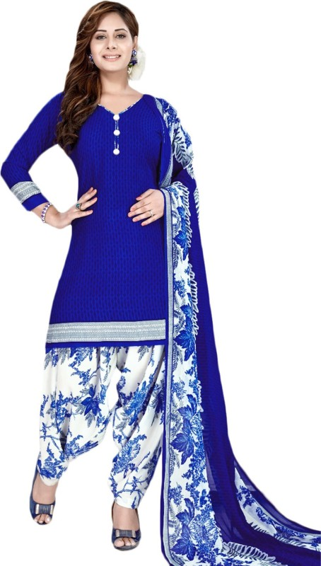 FabTag - Giftsnfriends Crepe Printed Salwar Suit Dupatta Material(Un-stitched)