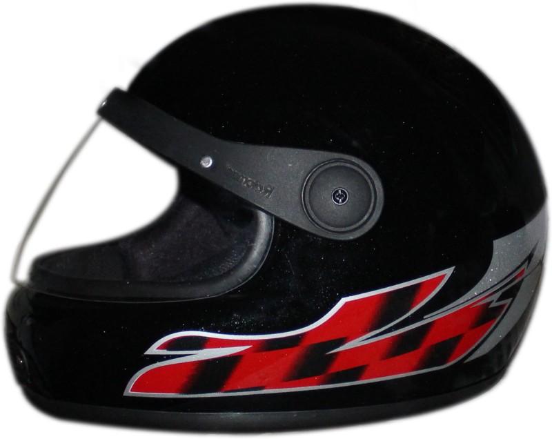 Rider Stylish Full Face Solid Plastic ISI Mark Motorbike Helmet(Black)