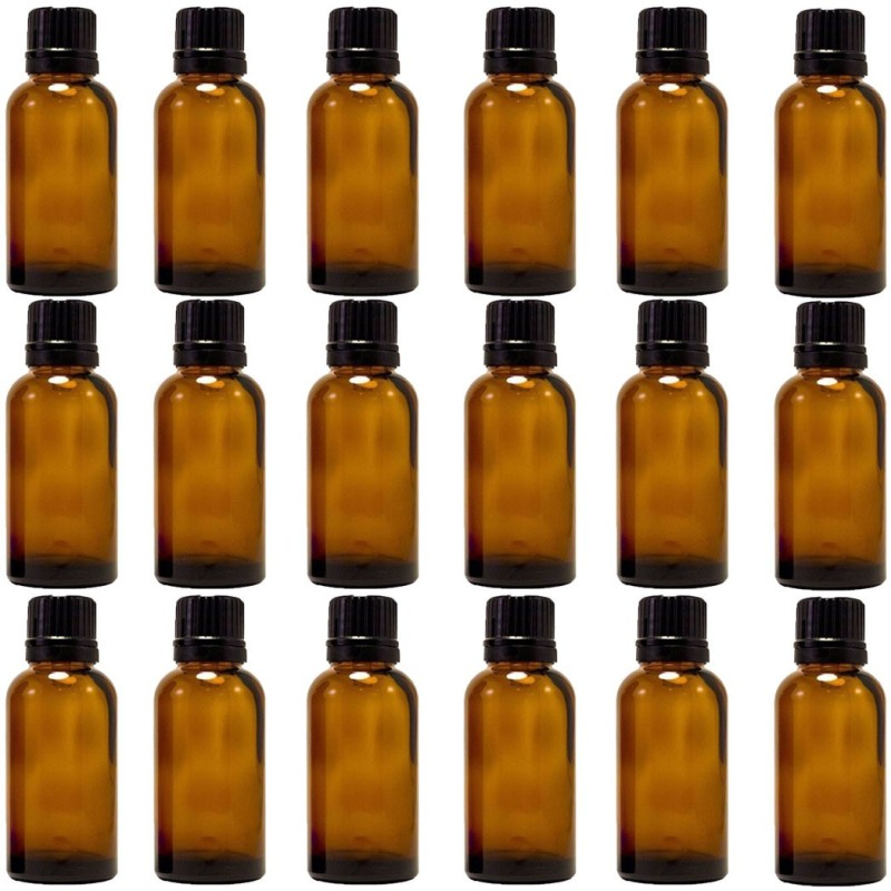 Amber 15 Ml (1/2 Fl Oz) Glass Bottle With Euro Dropper for Essential Oils -24 bottles Laboratory Dropper Bottle(Glass 15 ml Pack of24)