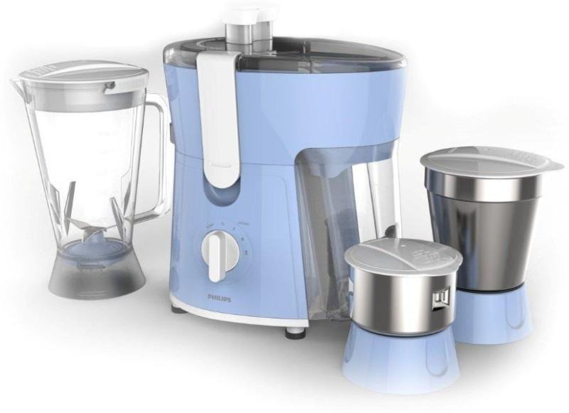 Philips Daily Collection HL7576/00 600 W Juicer Mixer Grinder(Celestial Blue & Bright White, 3 Jars)