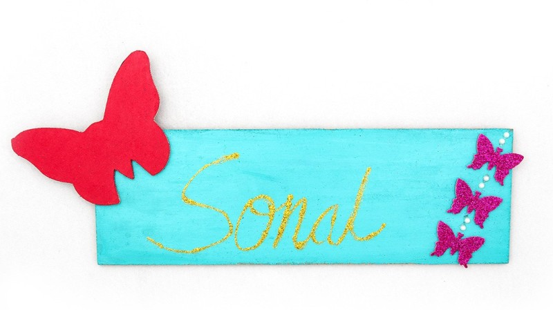 stalwart minds SM00180305 Blue Name Plate Holder