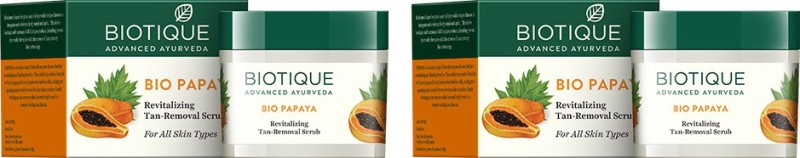 Biotique Bio Papaya Revitalizing Tan-removal-Pack of 2 Scrub(150 g)