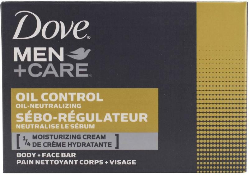 Dove Men+Care Body and Face Bar, Oil Control 1/4 Moisturizing Cream - 113g (4oz)(113 g)