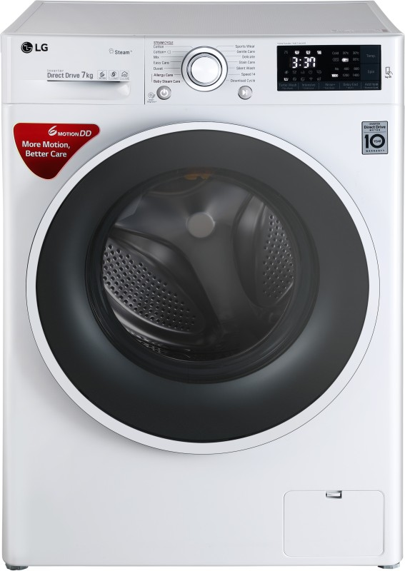 LG 7 kg Inverter Fully Automatic Front Load Washing Machine with Wifi White(FHT1207SWW)