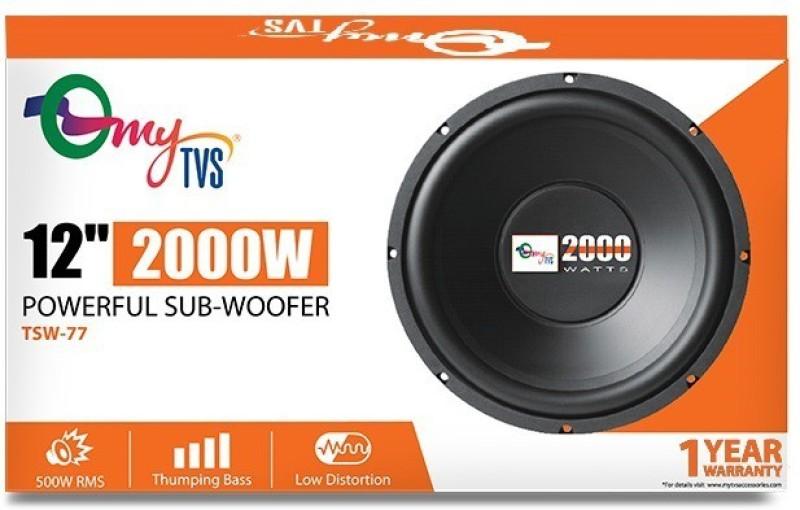 myTVS TSW-77 12 inch 2000W Powerful Car Subwoofer(Powered , RMS Power: 500 W)
