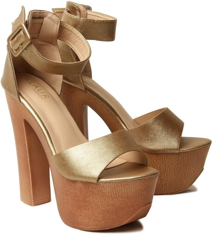 Klaur Melbourne Women Gold Heels