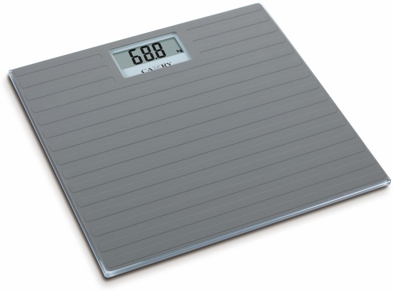 Camry EB9377-17A Electronic Anti-Slip Silicone Footmat On glass Paltform Body Weighing Scale(Grey)