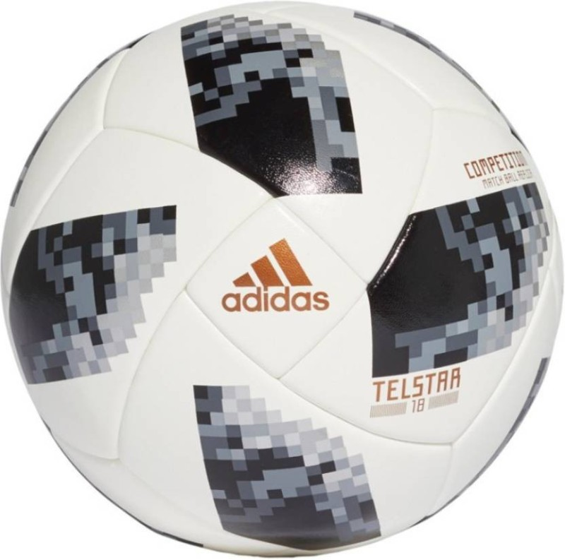ADIDAS Telestar Football - Size: 5(Pack of 1, White, Black)