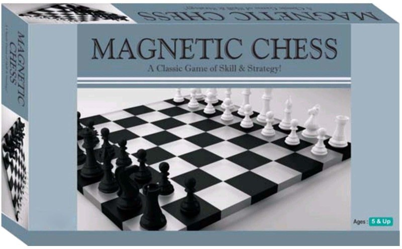 Wishkart MAGNETIC CHESS, A Classic Board Game of Skill & Strategy 14 cm Chess Board(Multicolor)