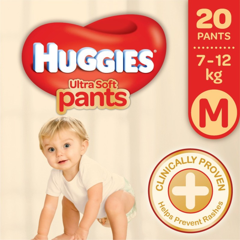 Huggies Ultra Soft Medium Size Premium Diapers - M(20 Pieces)
