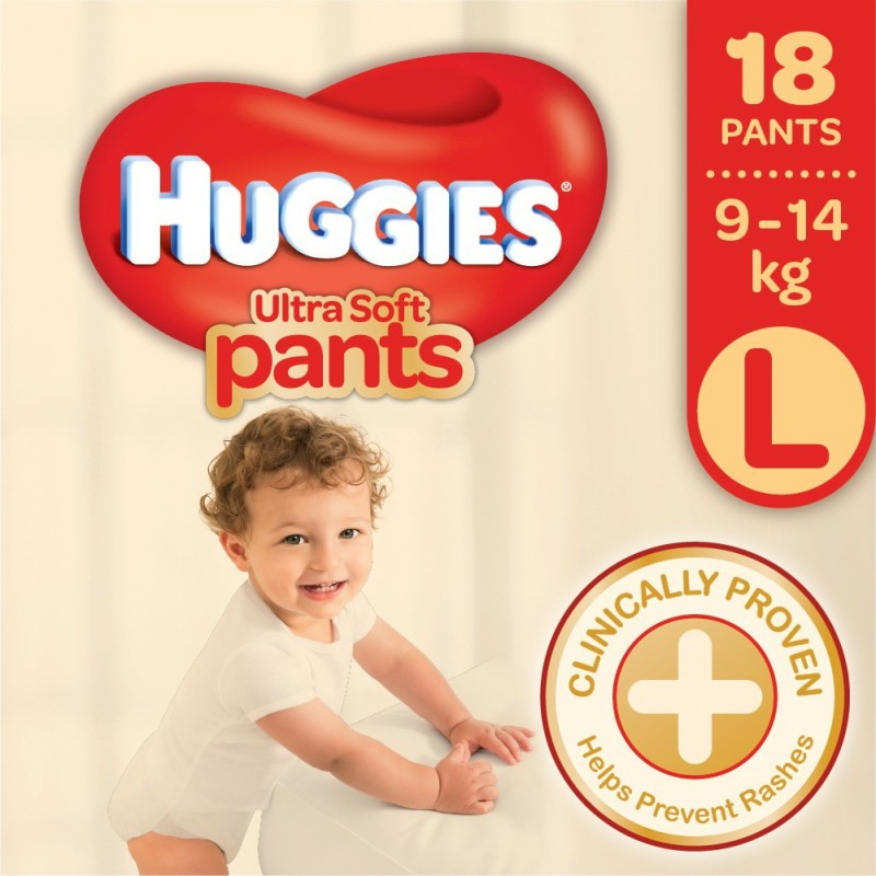 Huggies Ultra Soft Large Size Premium Diapers - L(18 Pieces)