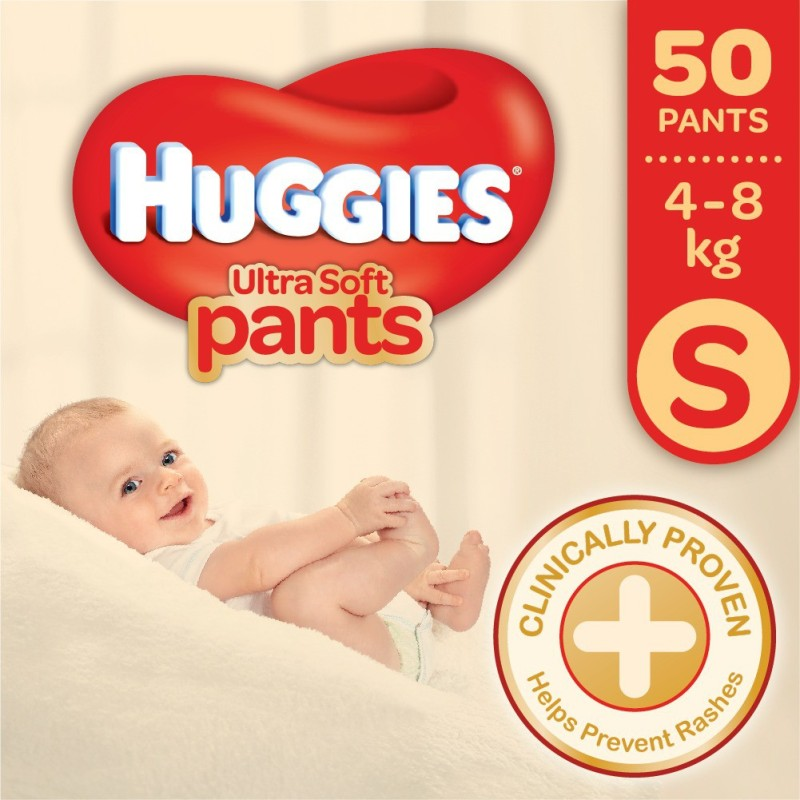 Huggies Ultra Soft Small Size Premium Diapers - S(50 Pieces)