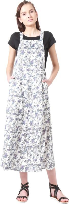 People Women Pinafore White Dress
