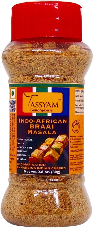 Tassyam BRAAI Indo African Seasoning 80g | Dispenser Bottle(80 g)