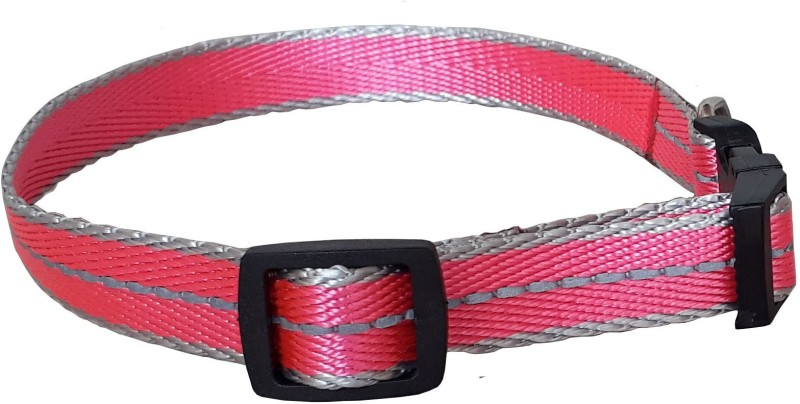 Pet Needs High Quality Designer Nylon Leash and Adjustable Collar Set for Puppy- for Tracking, Patrolling, Walking, and Training -Length- 46 inches, Width-0.6 inch 116 cm Dog & Cat Strap Leash(Pink)