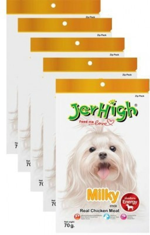 JerHigh Milky Combo Milk, Chicken Dog Treat(70 g)