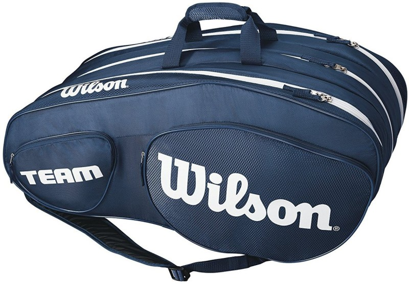 Wilson Team III 12 Pack Tennis Bag, Blue/White KIT BAG(Blue, Kit Bag)