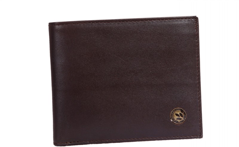 Woodland Men Formal Brown Genuine Leather Wallet(7 Card Slots)