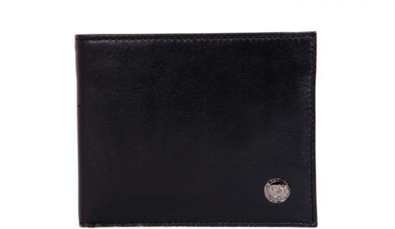 Woodland Men Casual Black Genuine Leather Wallet(9 Card Slots)