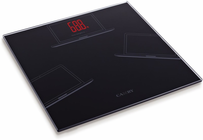 Camry EB1653-S895 Ultra Glass Red LED Magical Display Digital Personal Health Monitor Weighing Scale(Black)