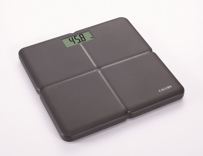 Camry EB7003-59 Electronic ABS Fiber Body Health Monitor Personal Scale Super Comfort Plastic Scale Extra Large 3.3 LED Display Weighing Scale(Black)