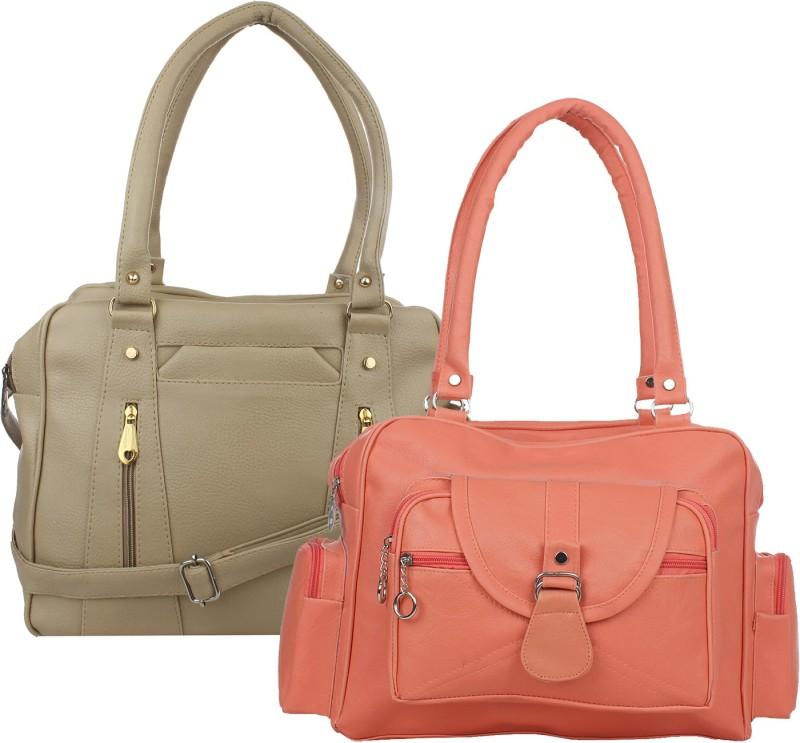 Fillincart Women Orange, Beige Hand-held Bag