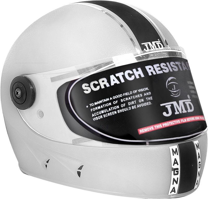 JMD Magna Full Face White Motorbike Helmet(White)