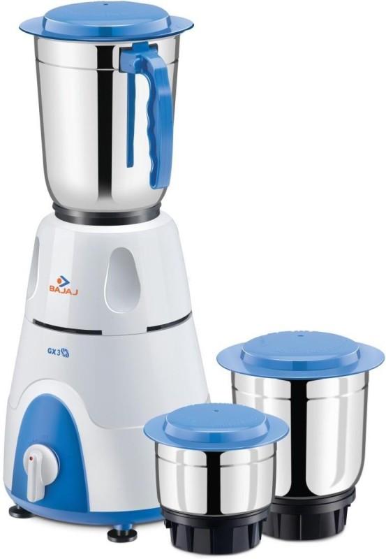 Bajaj GX 3 500 Mixer Grinder(White, 3 Jars)