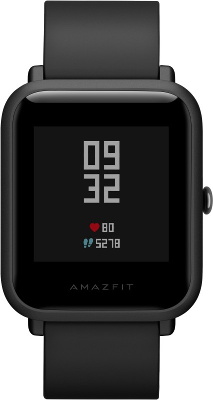 Huami Amazfit Bip Onyx Black Smartwatch(Black Strap Regular)