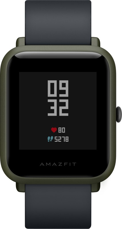 Huami Amazfit Bip Kokoda Green Smartwatch(Black Strap Regular)