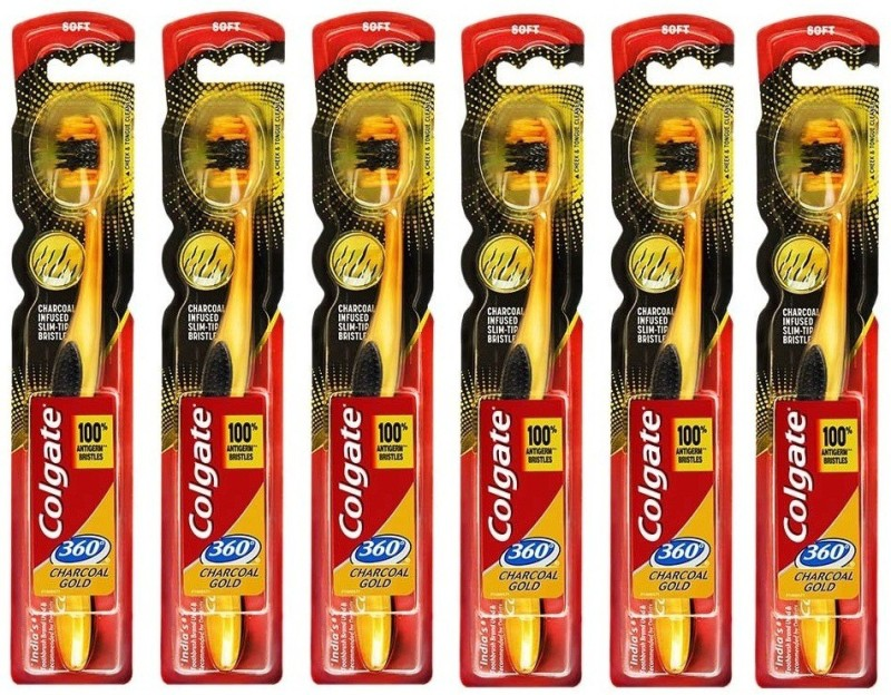 Colgate 360 gold Extra Soft Toothbrush(Pack of 6)