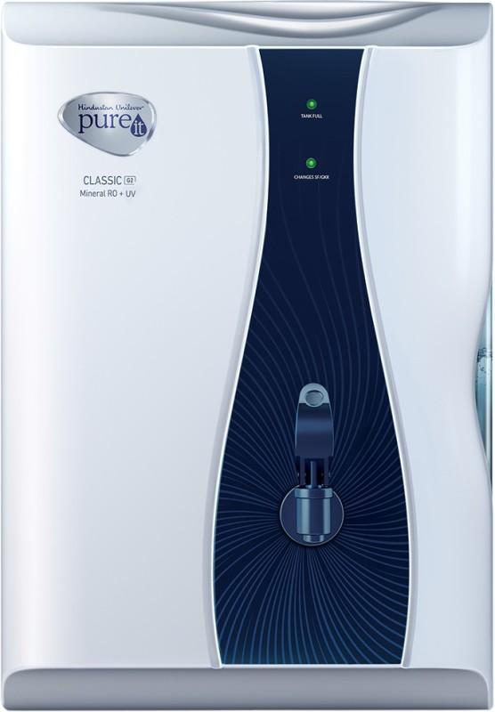 Pureit Classic G2 Mineral 6 L RO + UV Water Purifier(Blue, White)