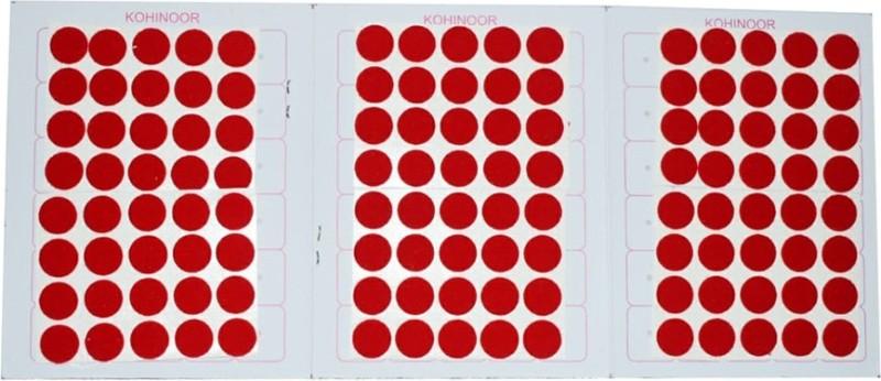 Kohinoor Red Round Bindi For Woman Woman Red Bindis(Stick On)