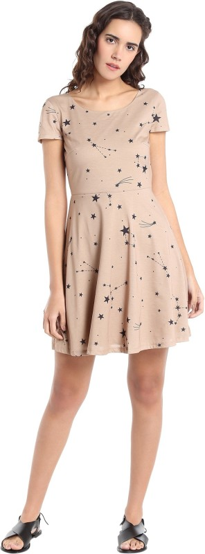 Vero Moda Women A-line Beige Dress