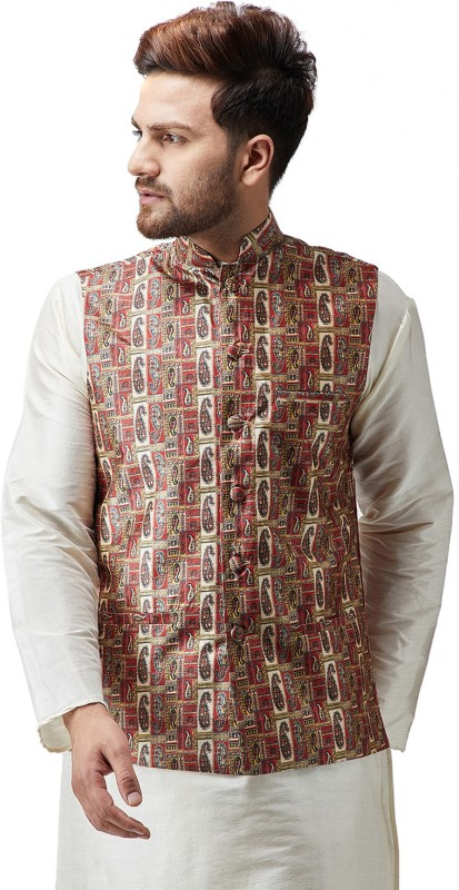 Sojanya Sleeveless Printed Mens Jacket