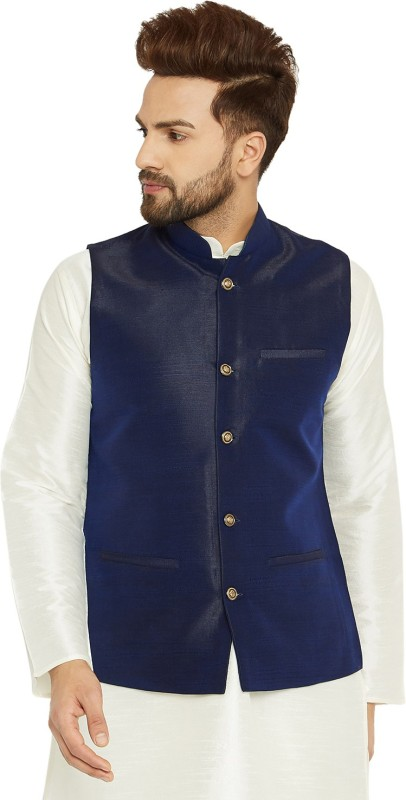 Sojanya Sleeveless Self Design Mens Jacket