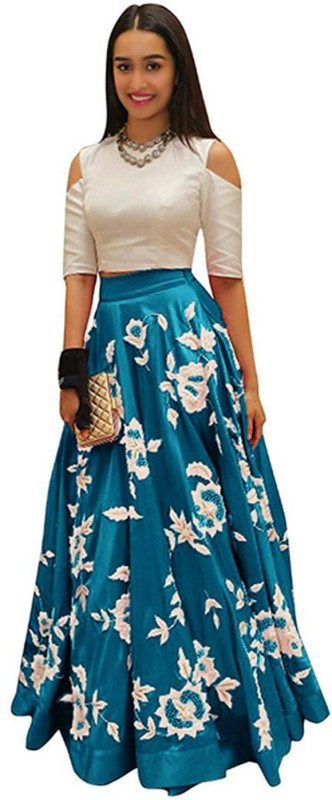 Nirvan fashion Embroidered Lehenga Choli(Light Blue)