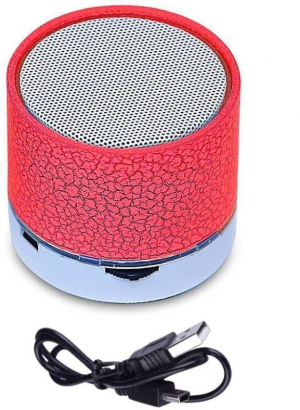 True Shop High Quality All Compatible Mini Bluetooth Wireless Speaker S10 With FM & Micro SD Card Bluetooth Speaker 3 W Bluetooth Speaker(Red, 2.1 Channel)
