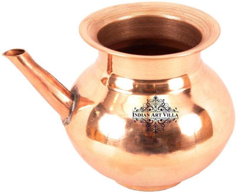 IndianArtVilla Copper Water Container Pot Dispenser IAV-CC-1-127-2 0.5 L Drum(Copper, Pack of 1)