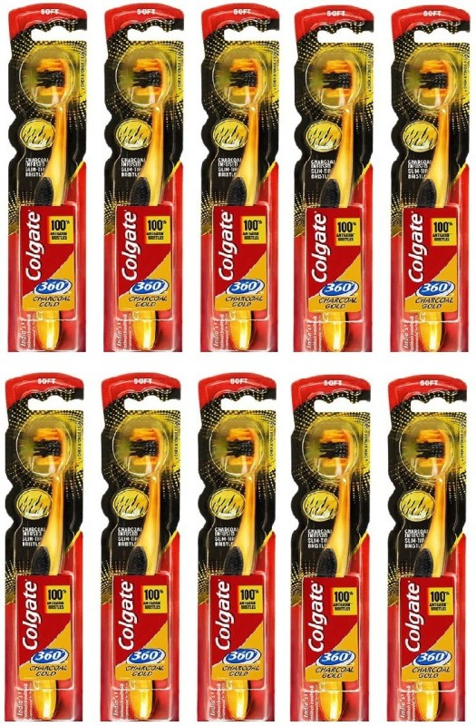 Colgate Gold Extra Soft Toothbrush(Pack of 10)