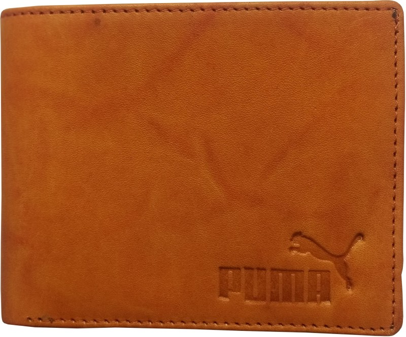 Puma Men Formal Tan Genuine Leather Wallet(4 Card Slots)
