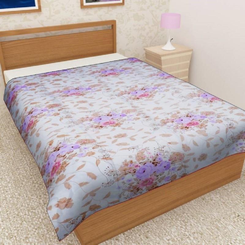 Flipkart SmartBuy Floral, Printed Single AC Blanket(Poly Cotton, Big Flower)