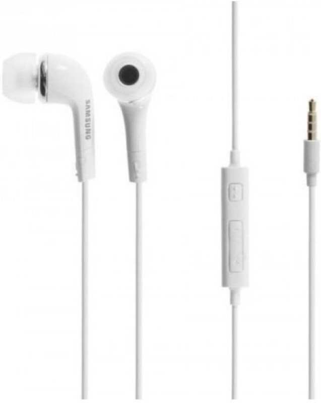 Samsung EHS64AVFWECINUU Wired Headset with Mic(White, In the Ear)