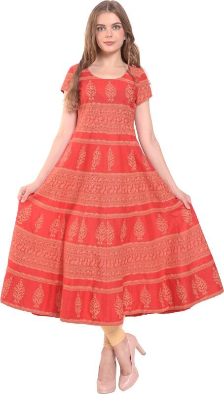 be55accb9 Poshak Women s Printed Anarkali Kurta(Red)