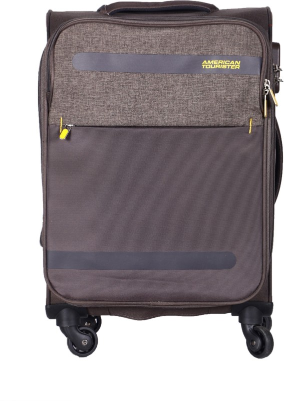 American Tourister strong Expandable Cabin Luggage - 22 inch(Brown)