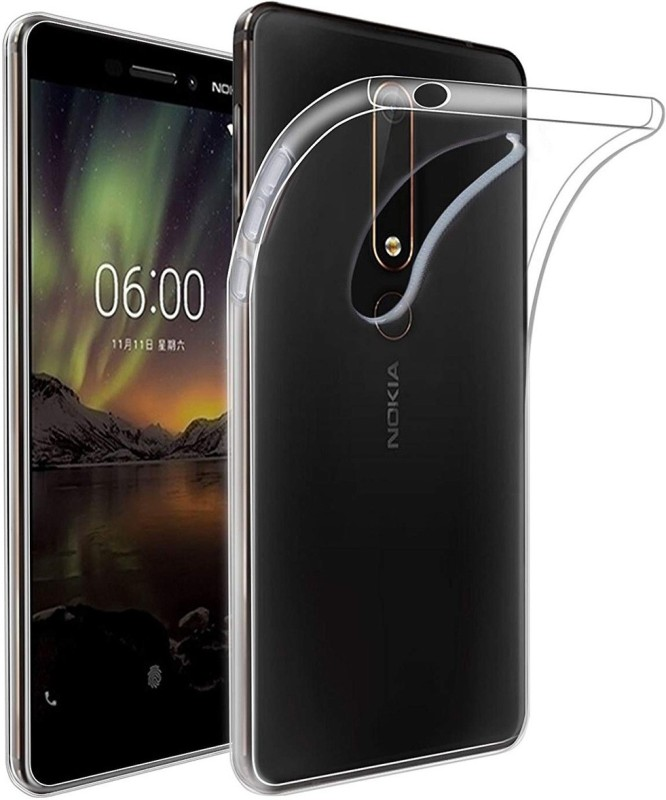 Cooldone Back Cover for Nokia 6.1(Transparent, Silicon)